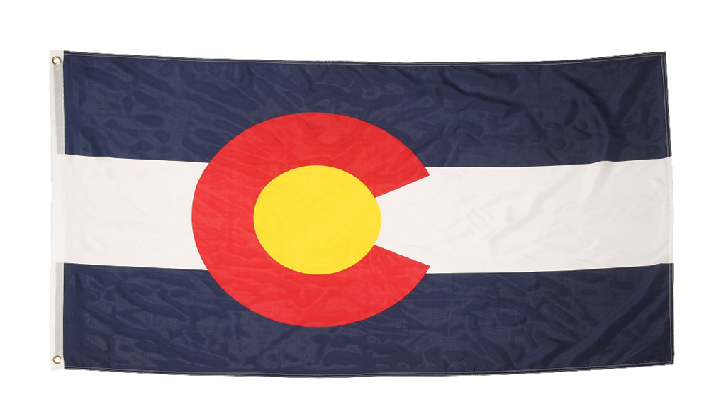 Shop72 US State Flags - Colorado Flag - 3x5' Flag from Sturdy 100D Polyester - Canvas Header Brass Grommets Double Stitched from Wind Side