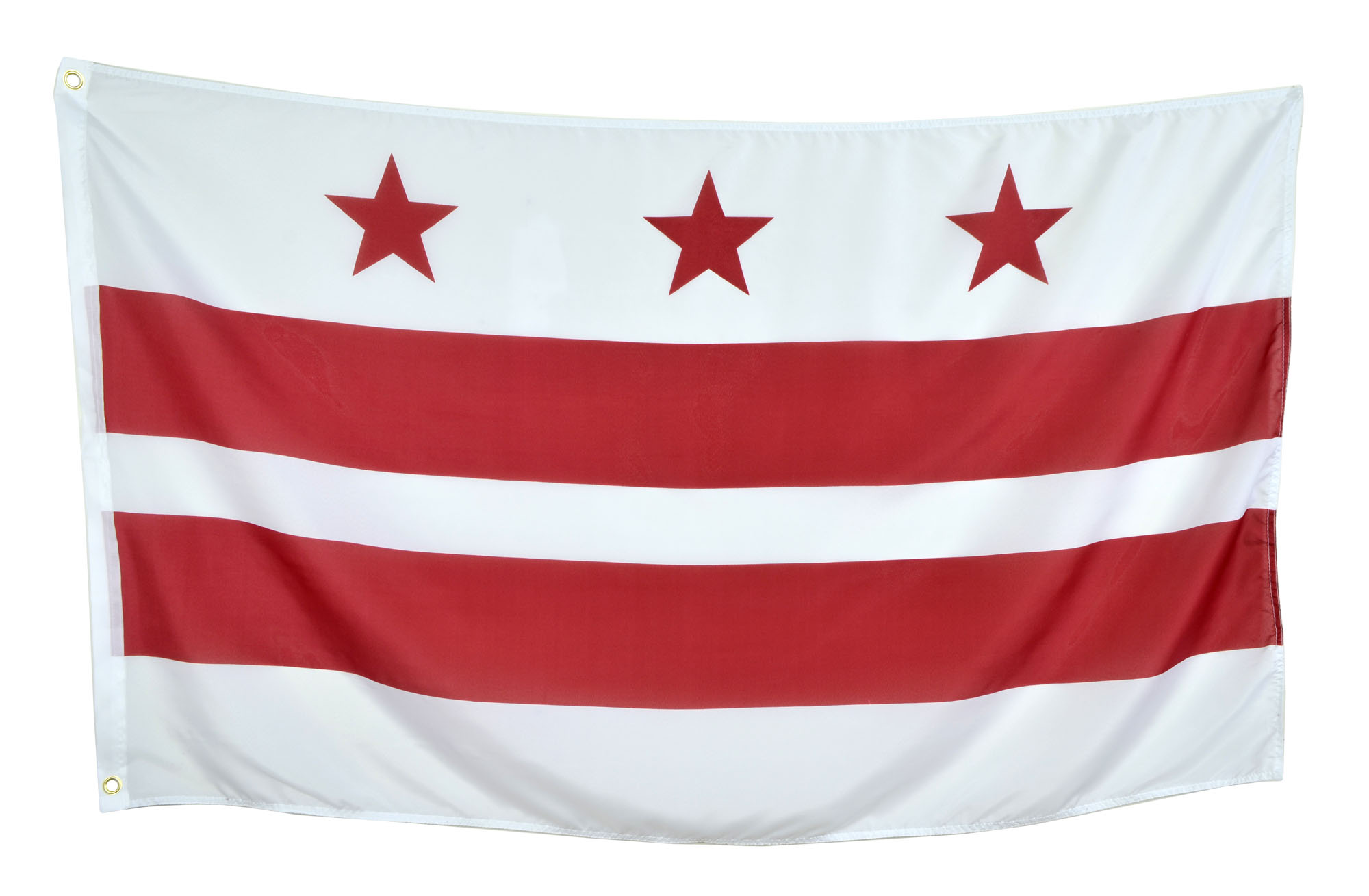Shop72 US Washington DC Flags - Washington Flag - 3x5' Flag from Sturdy 100D Polyester - Canvas Header Brass Grommets Double Stitched from Wind Sid
