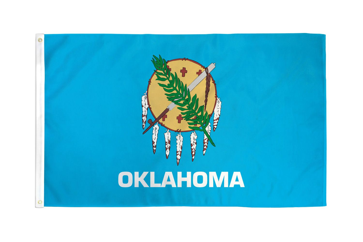 Shop72 - High Quality US State Flags - 100D 3x5 Polyester Flags - Oklahoma One Size