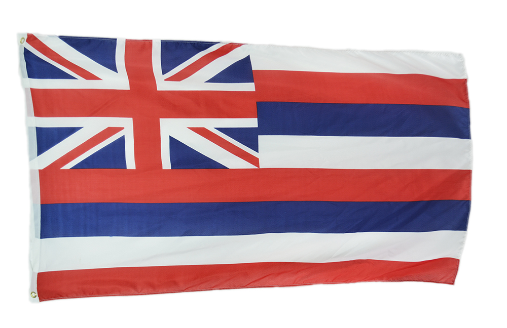 Shop72 Hawaii State Flags 3x5' Sturdy Polyester Brass Grommets Double Stitched