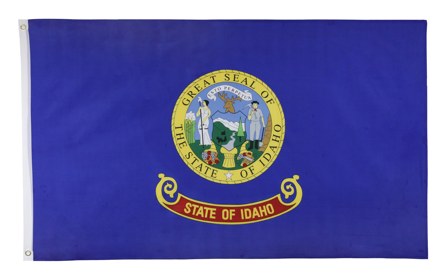 Shop72 US Idaho State Flags - Idaho Flag - 3x5' Flag from Sturdy 100D Polyester - Canvas Header Brass Grommets Double Stitched from Wind Side