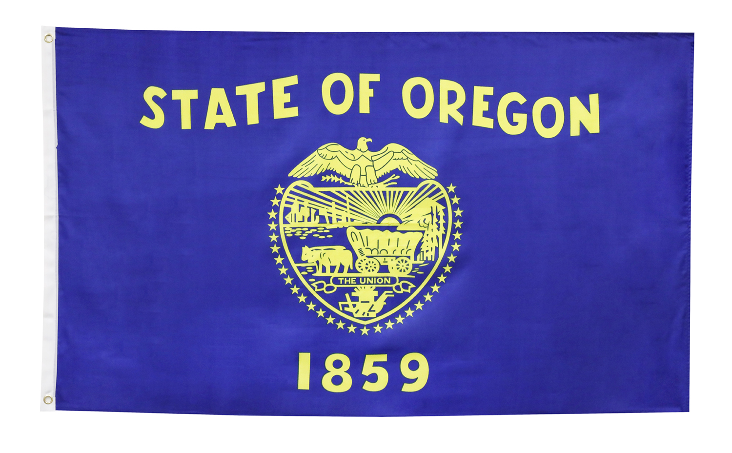 Shop72 US Oregon State Flags - Oregon Flag - 3x5' Flag from Sturdy 100D Polyester-Single Sided - Canvas Header Brass Grommets Double Stitched from Win