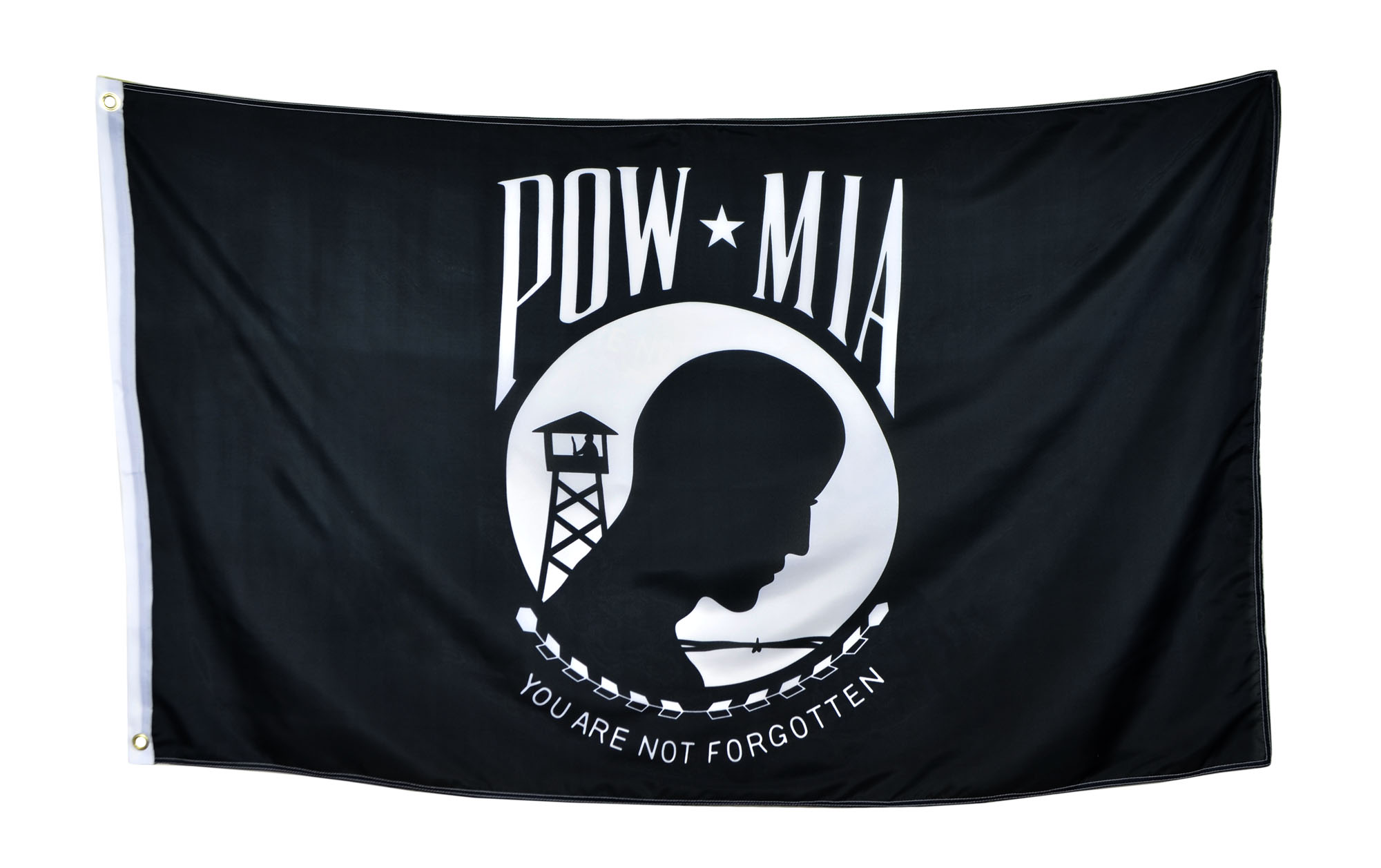 Shop72 - POW-MIA Black Flag You are Not Forgotten Prisoner of War 3x5ft Polyester