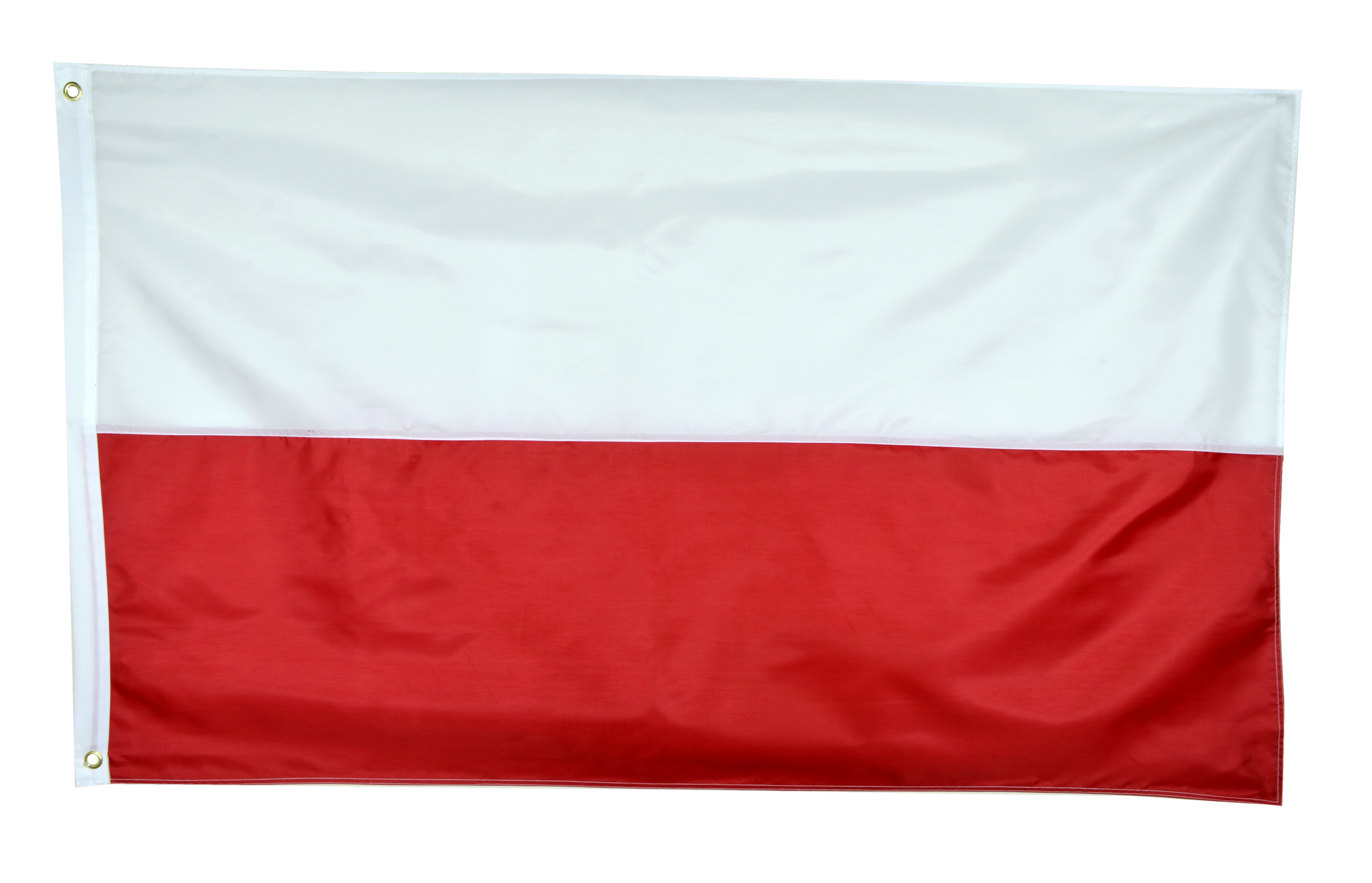 Shop72 - Poland Flag Oxford Nylon World Flag Canvas Header Brass Grommets Stitched from Wind Side