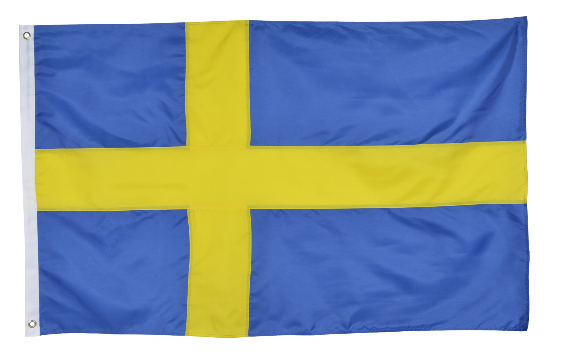 Shop72 Sweden Flag Oxford Nylon World Flag Canvas Header Brass Grommets Stitched from Wind Side