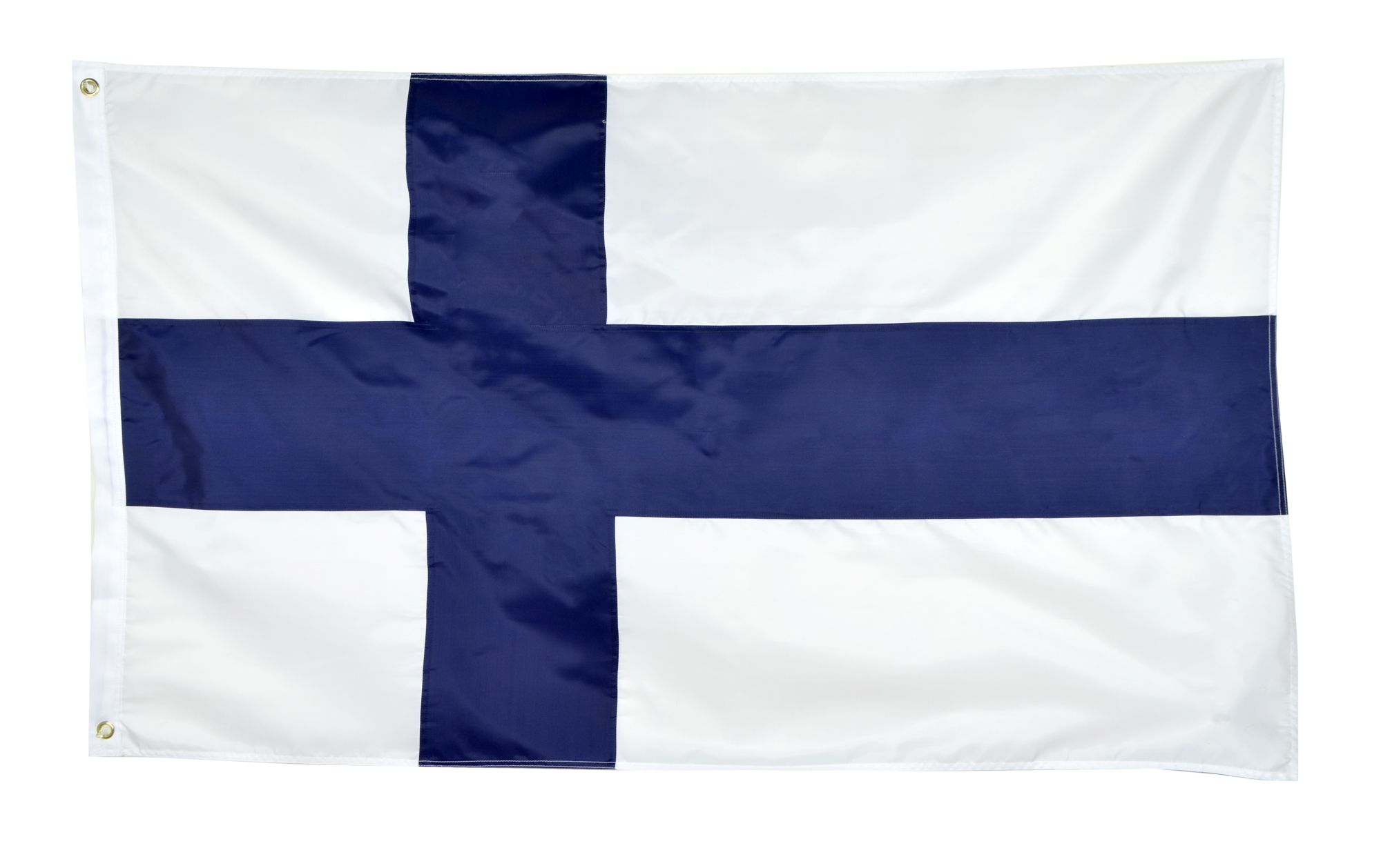 Shop72 Finland Flag Sewn Stripes Sturdy 201D Oxford Nylon Country Flags - World Flag - Canvas Header Brass Grommets Double Stitched from Wind Side