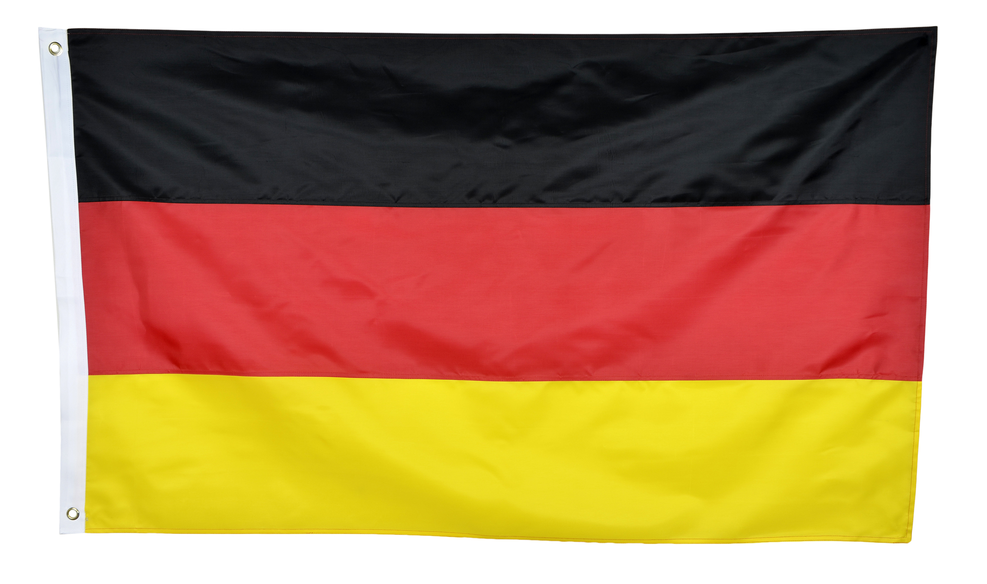 Germany Flag - Embroidered 210D Quality Nylon Country Flag - Canvas Header - Brass Grommets - Double Stitched