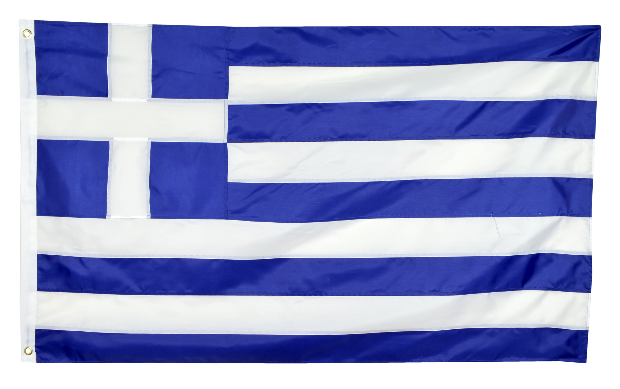 Shop72 - Greece Nylon Flag Canvas Header Brass Grommets Double Stitched from Wind Side 3x5 Ft
