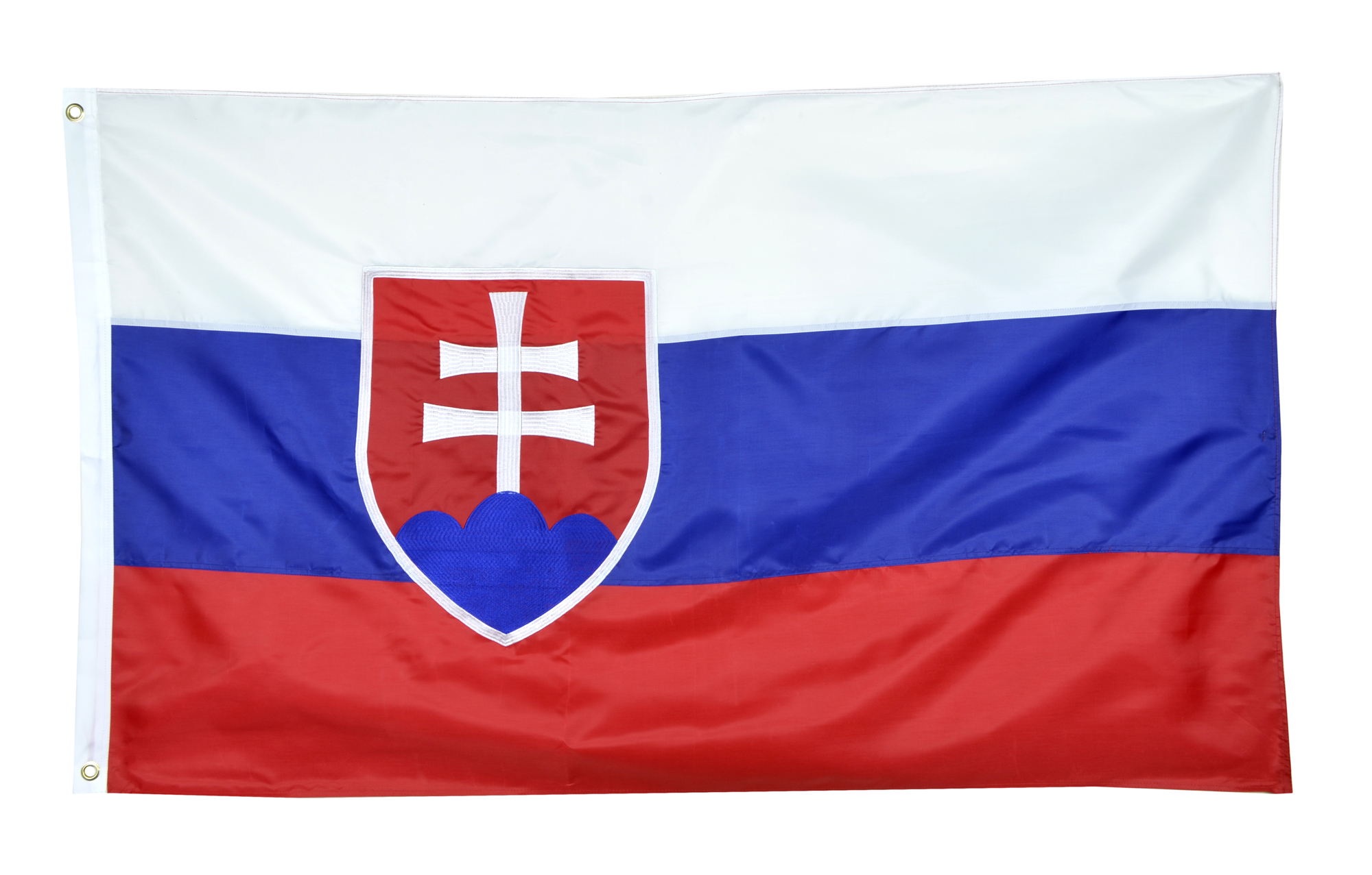 Slovakia Flag Nylon Country Flag Canvas Header - Brass Grommets - Double Stitched