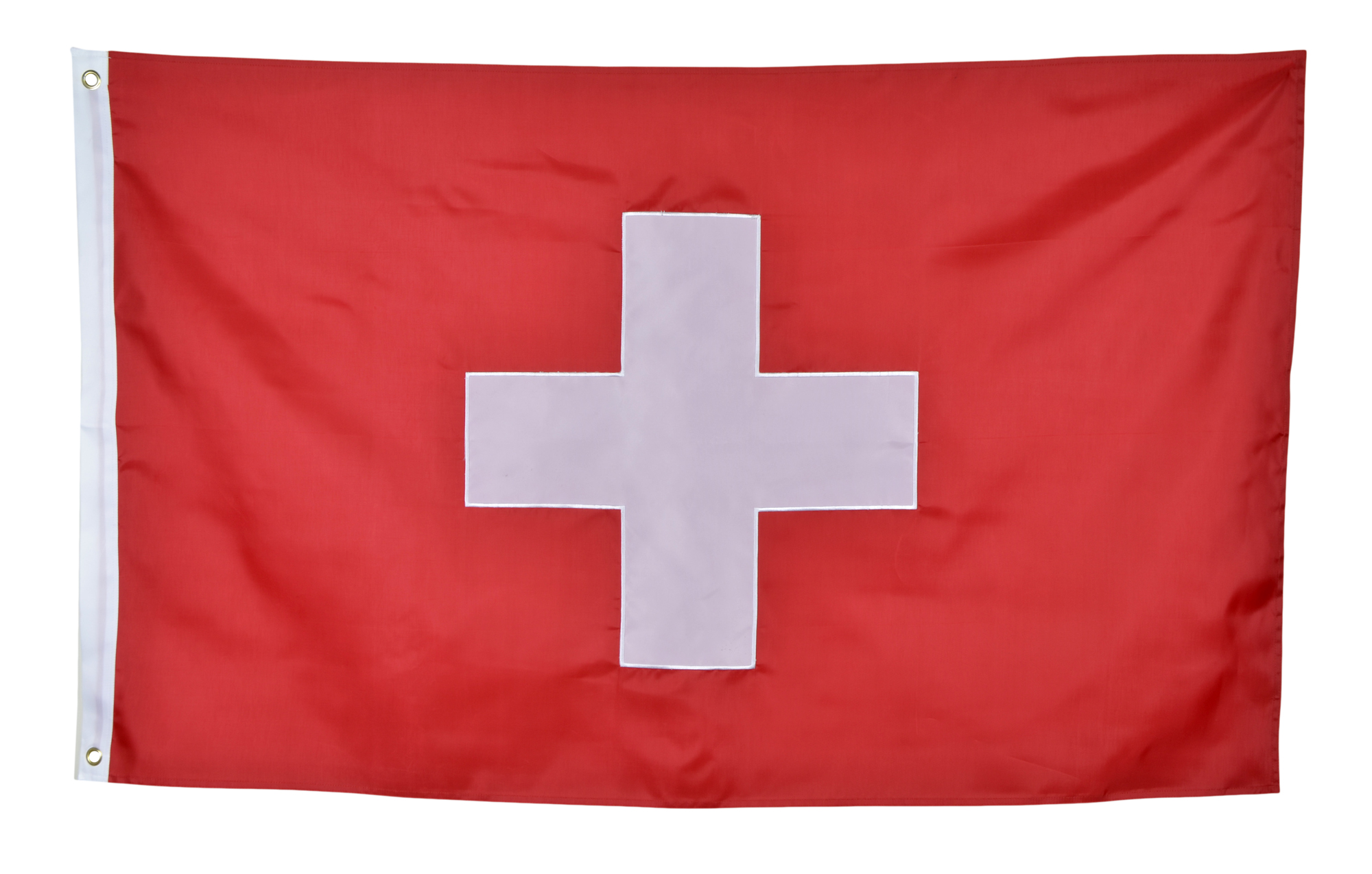 Shop72 - Switzerland Flag Sewn Stripes Sturdy 201D Oxford Nylon Country Flags - World Flag - Canvas Header Brass Grommets Double Stitched from Wind Si
