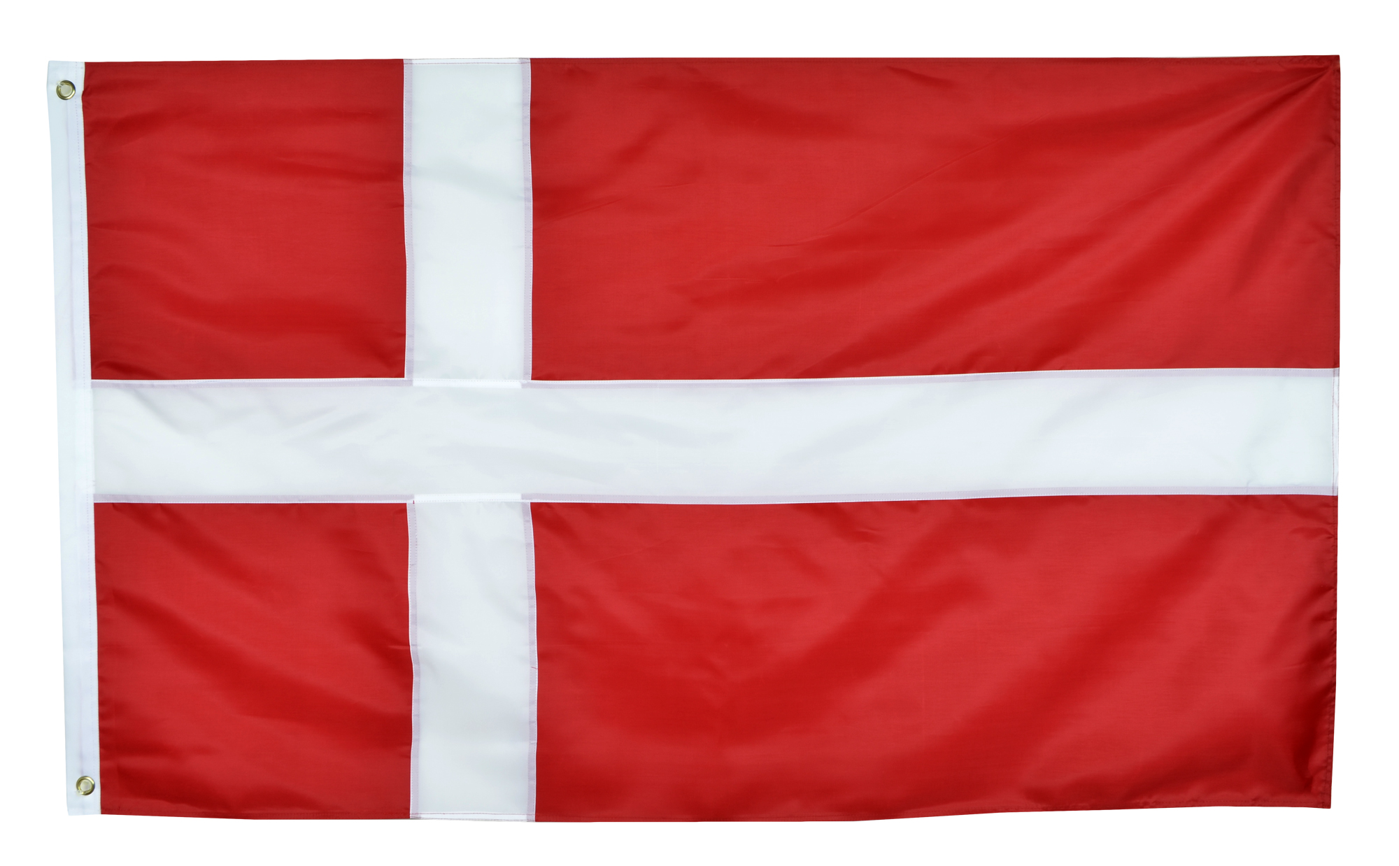 Shop72 Denmark Flag Oxford Nylon Country Flags Canvas Header Brass Grommets Stitched from Wind Side