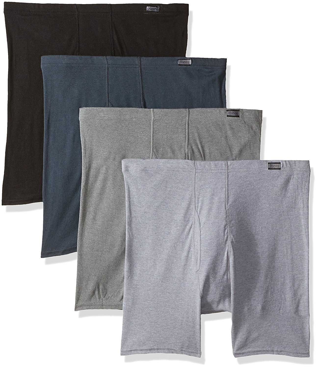 Hanes Mens 5-Pack Best Tagless Boxer Brief With Comfort Flex Waistband 2XL-copy