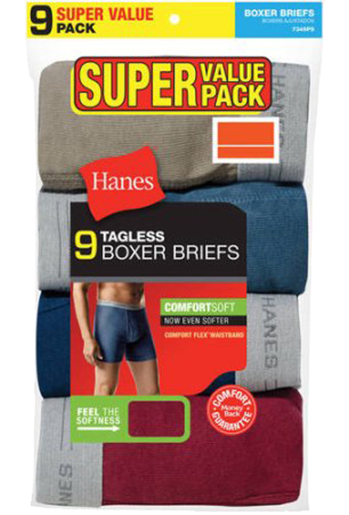 Hanes Men's Assorted Colors Comfort Flex Waistband Boxer Brief 9 -Pack - Assorted - Large