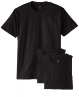 HANES-C-TSHIRT-3PACKS-BLACK-S