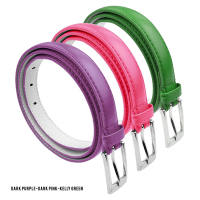 BBT-BELTS-7055-SET3-DPur-DPink-KGreen-L