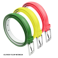 BBT-BELTS-7055-SET3-KGrnYelWatermelon-L