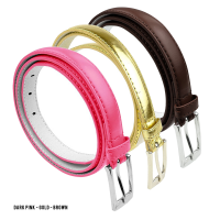 BBT-BELTS-7055-SET3-DPink-Gold-Brown-M