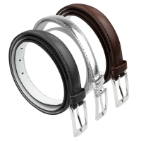 BBT-BELTS-7055-SET3-Blk-Silver-Brown-L