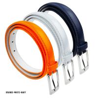 BBT-BELTS-7055-SET3-Orange-White-Navy-L