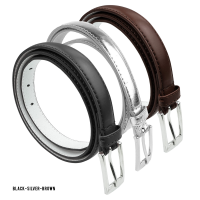 BBT-BELTS-7055-SET3-Blk-Silver-Brown-M