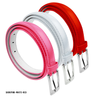 BBT-BELTS-7055-SET3-DkPink-White-Red-M