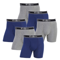 CHAMPION-BOXER-6BRIEF-GRYBLUE-M