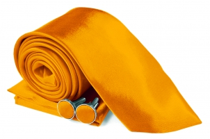 SZ-Tie30-Cuff-Hanky-Set-Orange