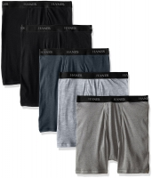 SAMS-MA-HANES-5BRIEF-BlackGray-L-2MIR